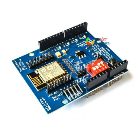 Board Arduino WiFi ESP8266 Shield - chân GPIO