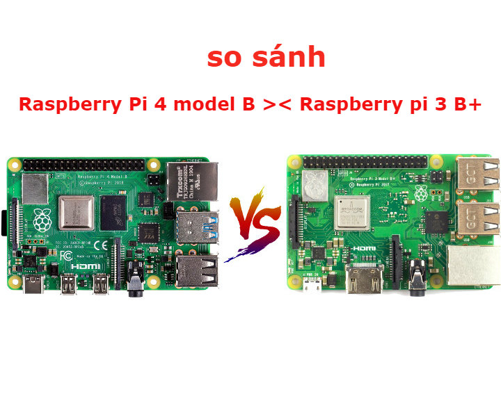 So sánh Raspberry Pi 4 model B với Raspberry Pi 3 model B+